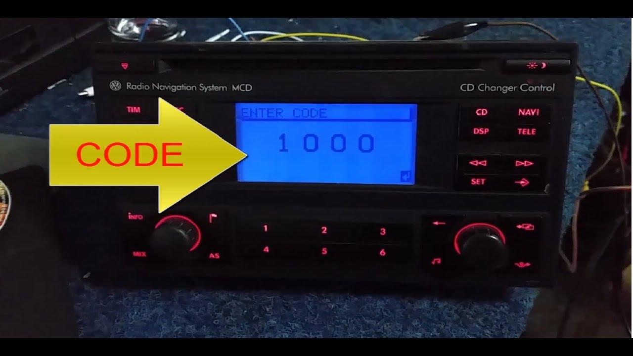 radio navigation system mcd blaupunkt vwz1z2 radio code youtube. Black Bedroom Furniture Sets. Home Design Ideas