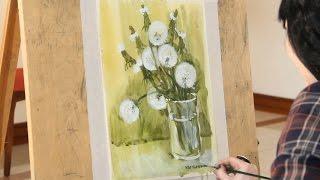 «Уроки рисования». Этюд акварелью и гуашью (29.01.2016)