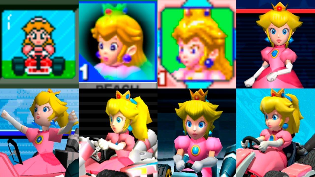 Mario kart saga characters peach evolution evoluci n - Princesse dans mario ...