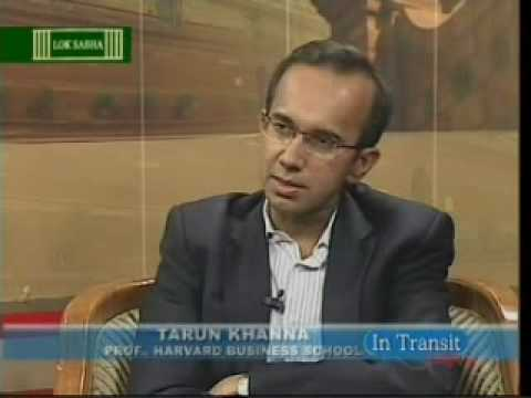 Tarun Khanna on LokSabha TV 1
