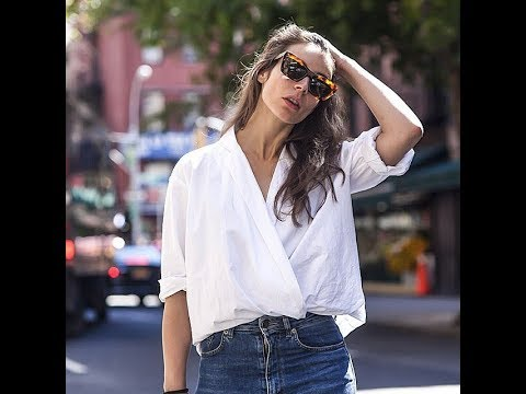 Wrap And Tuck Shirt Celebrity Trend 2017
