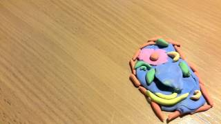 как сделать растительную клетку из пластилина