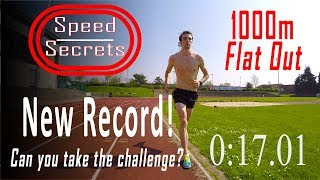 Sub 3 minute 1k! Top athlete shows how to run 1km time trial... FAST! Are you up to the challenge???