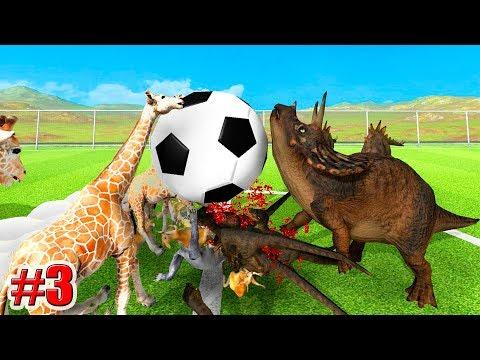 Мультфильм животные футбол играют в
