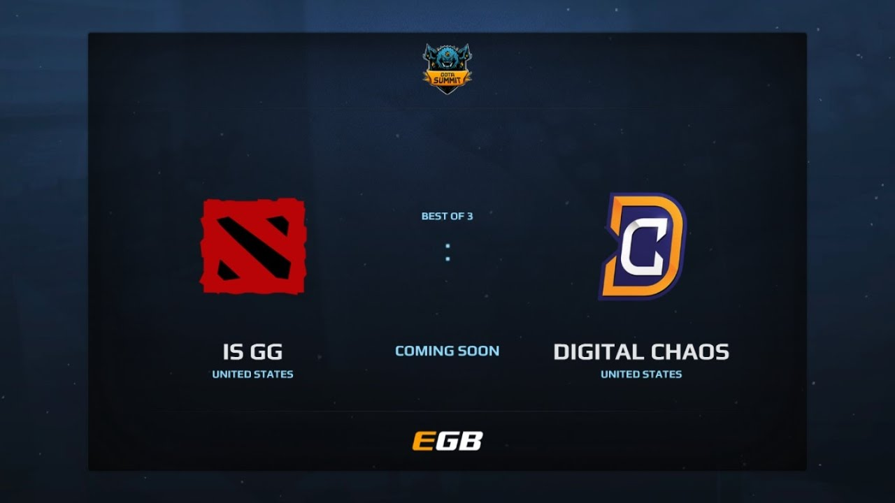 is GG vs Digital Chaos, Game 1, Dota Summit 7, AM Qualifier