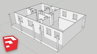 SketchUp 8 Lessons: Advanced House Building(I show you how to start building a house based on a blueprint, introduce you to layers, FoV (Field of View), show you how to recover deleted components, and ..., 2013-02-10T04:05:05.000Z)