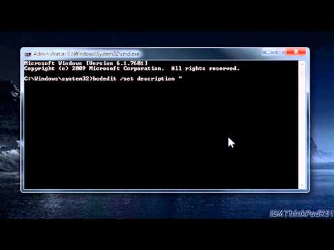 Tutorial: Change OS Names in the Windows Vista/7/8 Boot Manager (Boot Menu)