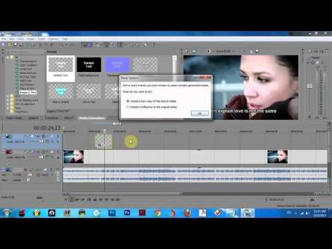How to create karaoke text effect in Sony Vegas Pro 12 HD