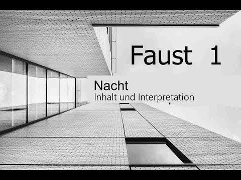 Goethes Faust Nacht Inhaltsangabe Und Interpretation Youtube