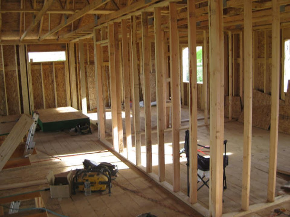 Wall framing strategies wall corners youtube for How to frame a two story house