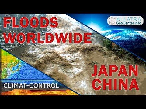 Floods, Storms around the World. Japan, China, USA, Kenya, Russia. Climate Change 106