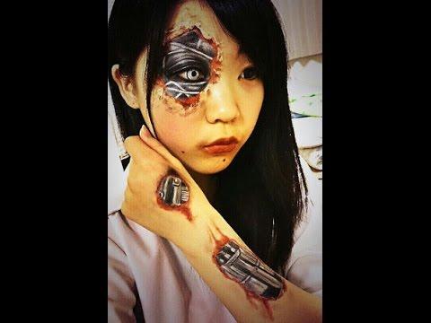 半顔メイク女子きわちむの半顔メイクが凄い! Japanese High School Girl Half Face Makeup