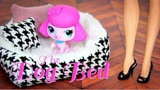 How To Make A Doll's Dog Bed - Doll Crafts