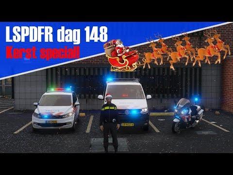 GTA 5 lspdfr dag 148 - Extreem drukke kerst special! 1 uur LSPDFR!