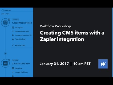 Webflow Workshop #69: Creating CMS items with a Zapier integration