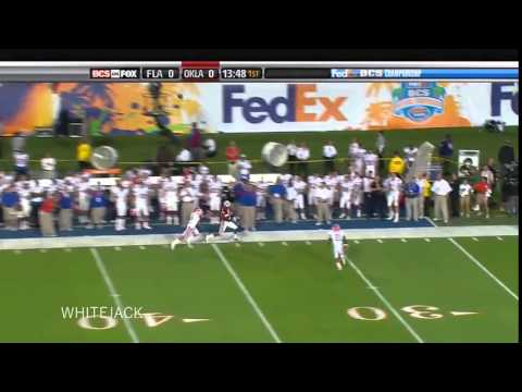 Major Wright of Florida Gators   Big Hit on Manny Johnson in 2009 BCS National Championship
