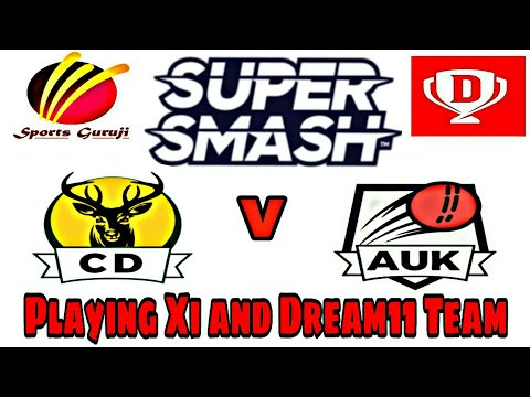 Central District vs Auckland Aces, Super Smash 2018-19 Match No.6, Playing Xi and Dream11 Team