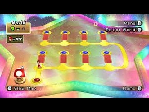New Super Mario Bros Wii 100 Walkthrough World 9 All Star