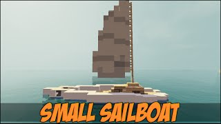 How To Build A Sailboat [Catamaran]- Minecraft Vehicle Tutorial Series
