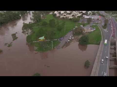 Logan River flood Queensland 2017