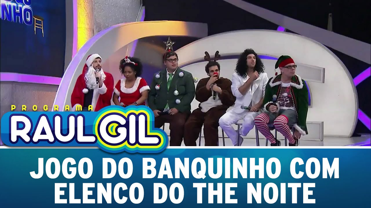 Programa Raul Gil (19/12/15) - Elenco do The Noite no Jogo do Banquinho