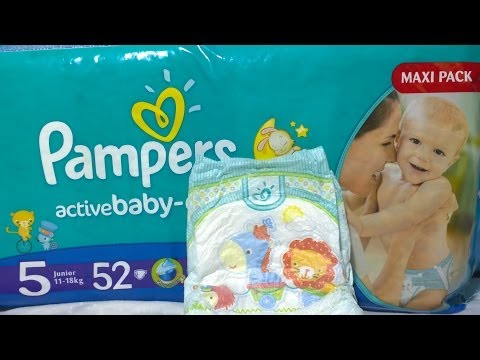 Pampers Active Baby Mega Pack Unboxing Pampers Diapers,Nappy!Pampers Windeln,帮宝适纸尿裤 - Видео онлайн