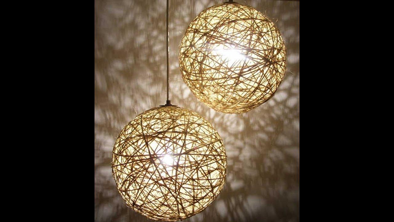 Como hacer lampara con cuerda youtube - Como hacer lamparas de techo artesanales ...
