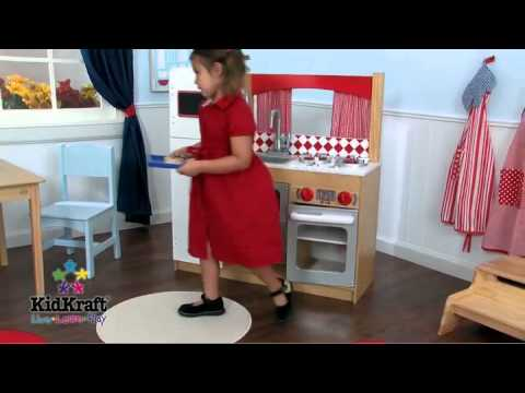 cuisine suite elite jouets d 39 imitation en bois kidkraft sur youtube. Black Bedroom Furniture Sets. Home Design Ideas