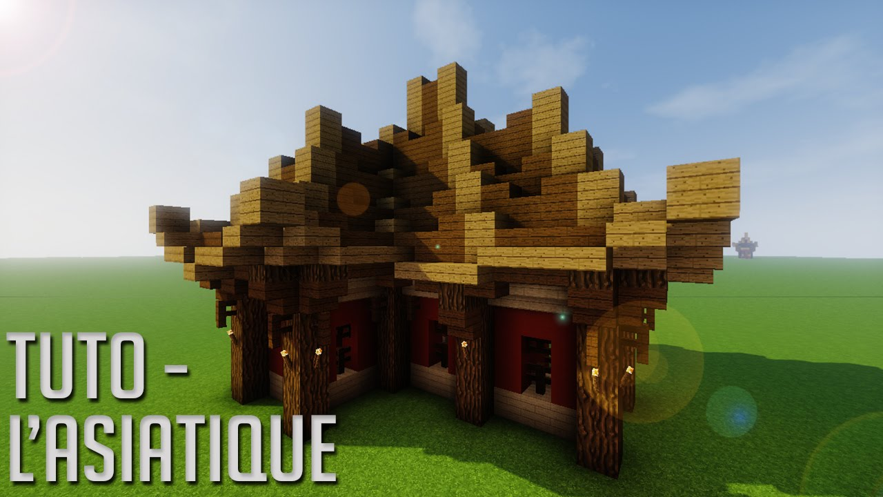 Tuto minecraft le style asiatique fr youtube - Belle construction minecraft tuto ...