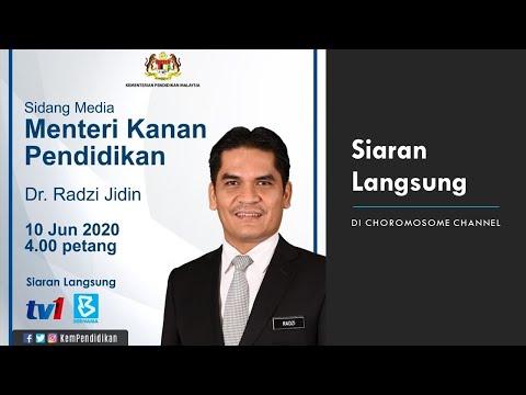 Langsung Sidang Media Menteri Pendidikan Malaysia Tarikh Pembukaan Sekolah Pada 24 Jun 2020 Youtube