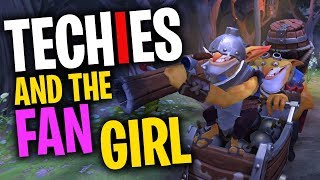 Techies and the Fan Girl - DotA 2 Funny Moments