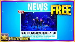 NEW Fortnite Save The World For FREE Release Date! (Ps4/Xbox One/PC) + Save The World FREE GLITCH!