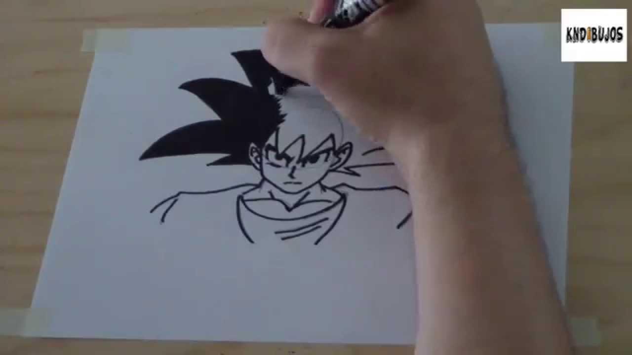 Como dibujar a goku dragon ball paso a paso  How to draw goku