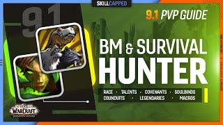 BM & SURVIVAL HUNTER 9.1 PvP Guide | Best Race, Talents, Covenant, Soulbind, Conduits, Gear & Macros