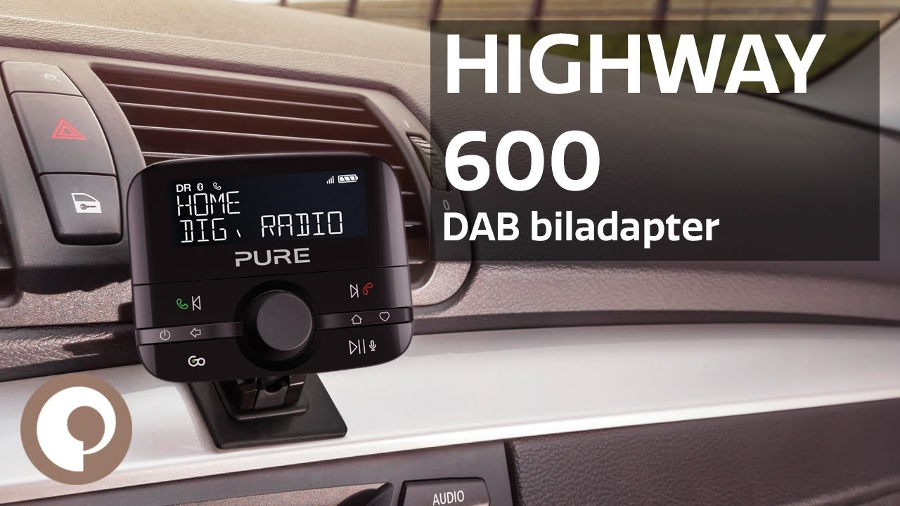 Pure Highway Dab biladapter med Bluetooth Elkjøp
