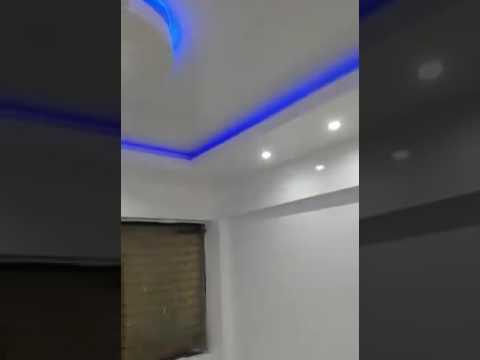 Plaf n decorativo de tabla roca con led iluminado en for Plafones luz pared
