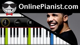 Drake - Hold On We're Going Home - Piano Tutorial (Easy Version)