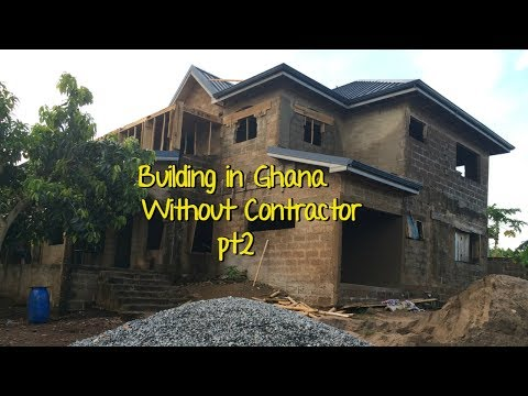 Building In Ghana Pt 2 // Plastering {Laundry & Patio Extensions}