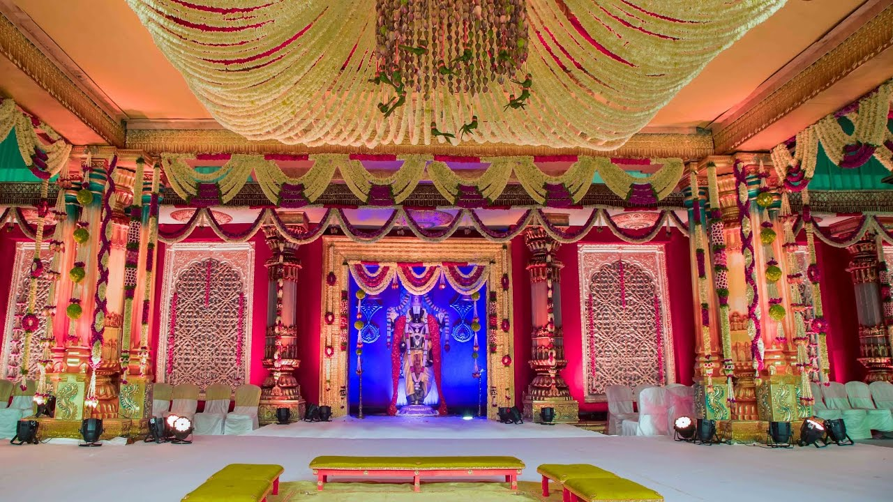 A Traditional Wedding Mandapam By KMK Event Management For IAS ... for Pelli Mandapam Vedika Stage Decorations  181obs