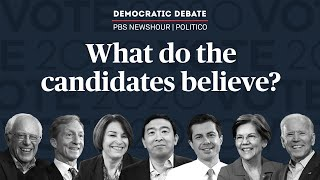 WATCH: Who are the seven candidates who qualified for the PBS NewsHour/POLITCO Democratic debate?