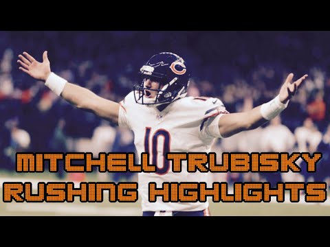 Mitch Trubisky's UNBELIEVABLE Rushing/Scrambling Highlights of the 2018 Season(Weeks 1-12)