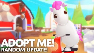 🙊 Random Update! 🚂 Pets sit in the new train vehicle 🚂 Adopt Me! on Roblox