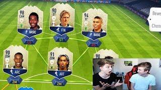 Schaffe Ich endlich die SCHWERSTE Full ICON Fut Draft Challenge vs. Bruder! 😱 Fifa 18 Ultimate Team
