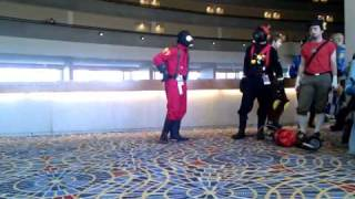 DragonCon 2010 - TF2 Cosplayers - Pyro Antics