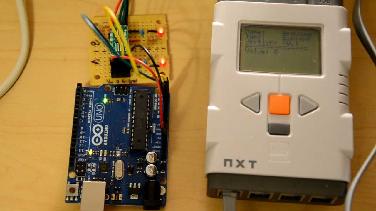 Arduino uno connected to lego mindstorms nxt with