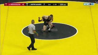 133 LBS: #2 Austin Desanto (Iowa) vs. #20 Jordan Decatur (Ohio State) | 2020 B1G Wrestling