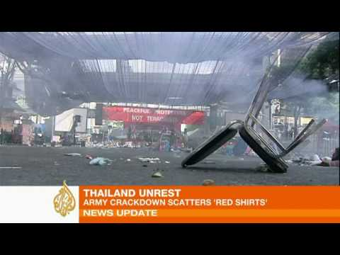 Thai army crackdown scatters protesters