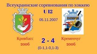 05.11.17. (U12) Кривбасс 2006 - Кременчуг 2006.  3 период
