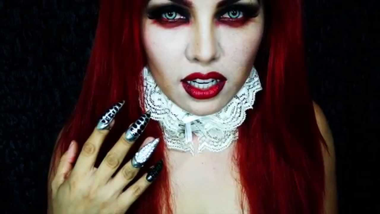 EASY VAMPIRE MAKEUP TUTORIAL - YouTube