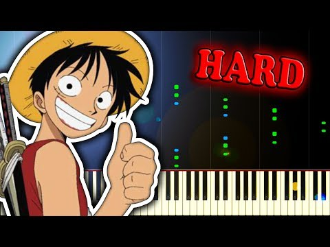 WE ARE! (ONE PIECE OP 1) - Piano Tutorial